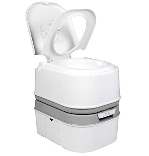 Qdreclod Campingtoilette, Tragbar Outdoor Campingklo, Mobile Chemietoilette für Wohnmobil, Double Flush WC Toilettensitz für ältere Schwangere Frauen (24L)