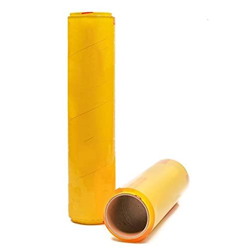 XYSQ 2 x Roll of 450mm x 300m - Película Adhesiva - Rollo De Envoltura Estirable Embalaje De Plástico Película Adhesiva - Transparente - Plástico Retráctil para Mudanzas