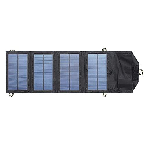 Cargador Solar 5V 7W Banco De Poder Plegable De La Emergencia del Panel Solar Portátil De La Emergencia Al Aire Libre con USB Puerto Plegable y Portátil (Color : Black, Size : 7W)