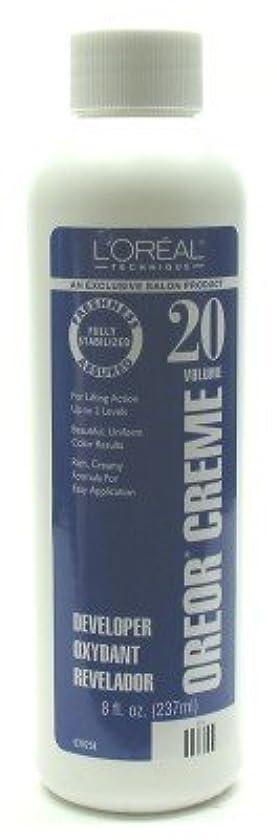 高層ビルライトニング熟達L'Oreal Oreor Creme 20 Volume Developer 237 ml (Case of 6) (並行輸入品)