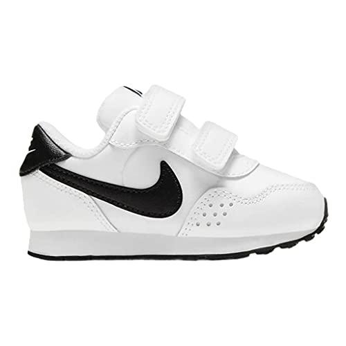 Nike MD Valiant (TDV) - Zapatillas deportivas unisex para niños, color blanco y negro, CN8560 100 Size: 22 EU