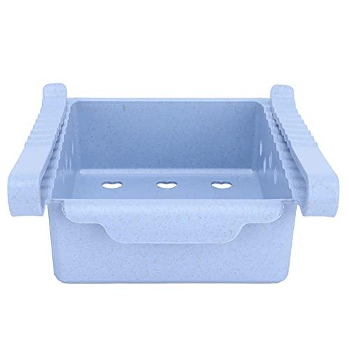 Chiwe Organizadores de frigorífico, Organizador de cajones de frigorífico Ligero con asa Frontal para congelador, Cocina para armarios de encimeras(Light Blue)