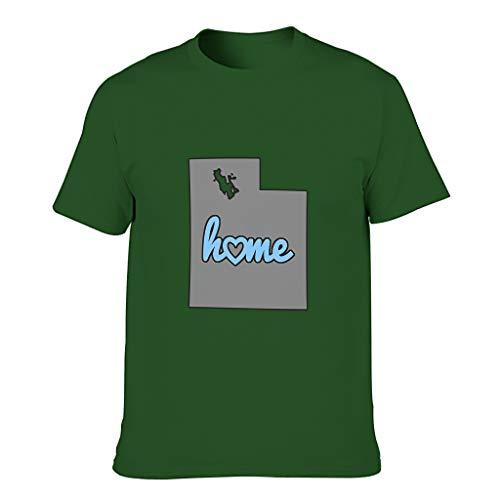 YCNJJB Camiseta de algodón para hombre, diseño de mapa de Utah Cool individualidad, ligera, manga corta con estampado de EE. UU