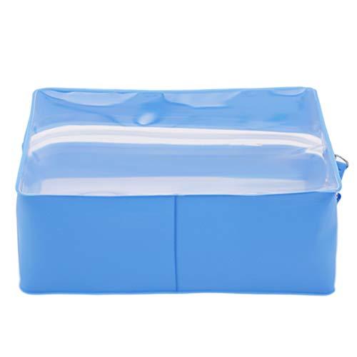 LoveAloe Pochette Cosmetic Bag Makeup Bag Portable Waterproof Case Pocket Organizer Transparent Tolitery Zipper Storage, Royal Blue