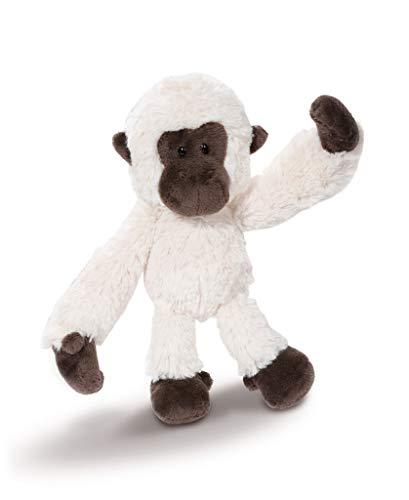 NICI 43622 Kuscheltier Gibbon, 20 cm, weiß/braun