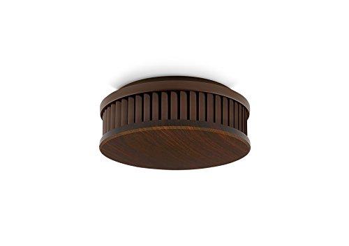 PYREXX PX-1 , 1 Stück, Rauchmelder 10 Jahre Batterie mit Magnet-Halterung ohne Bohren und LED-Blinken, zertifiziert nach Q-Label, holzoptik dunkel