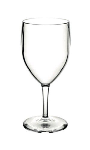 Verres à vin incassables en polycarbonate - Lot de 6 (25 cl).
