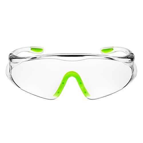 ゴーグル 保護メガネ 花粉症 透明 軽量 安全メガネ 曇り止める 防風 防塵ゴーグル 作業用アイゴーグル 眼鏡着用可 透明 レディース (JPHM-7)
