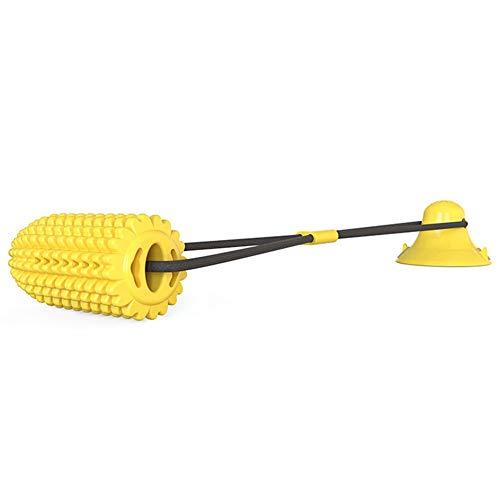 Juguetes para masticar para perros, juguete interactivo de maíz de guerra con ventosa, limpieza de dientes molar mordida para perro