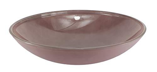 Budawi® - Glasschale Brunnenschale Obstschale Schale lila Ø 40 cm für Zimmerbrunnen/Nebler