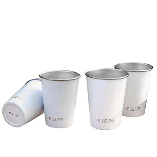 BESPORTBLE 4 Tazas de Acero Inoxidable para Fiestas Al Aire Libre Tazas de Metal para Acampar Al Aire Libre Tazas Reutilizables para Fiestas de Cumpleaños Bebidas Al Aire Libre Tazas 400Ml