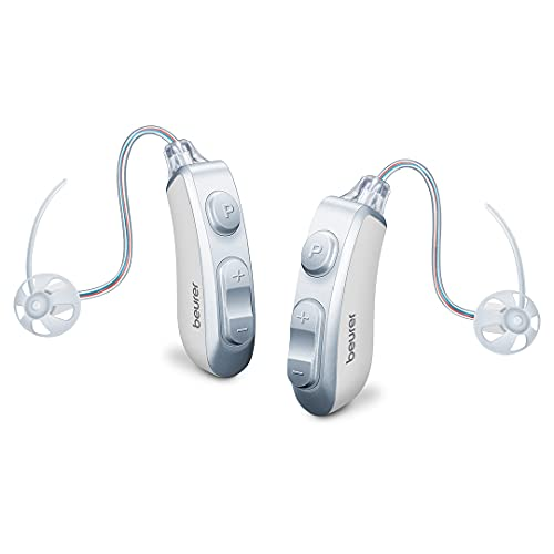 Beurer HA85 Pair Digital Hearing Amplifier | Discrete Hearing Amplifier for Seniors & Adults | Adjustable Sound Amplifier | Indoor & Outdoor | Ideal for Restricted Hearing Ability, 8 Attachments
