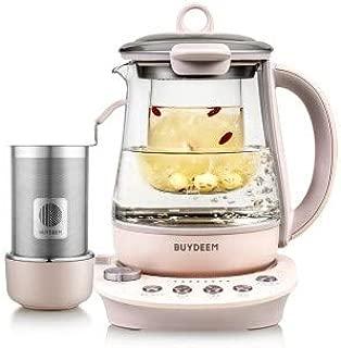 Buydeem K2693 Health-Care Beverage Tea Maker and Kettle, 9-in-1 Programmable Brew Cooker Master, 1.5 L, Pink