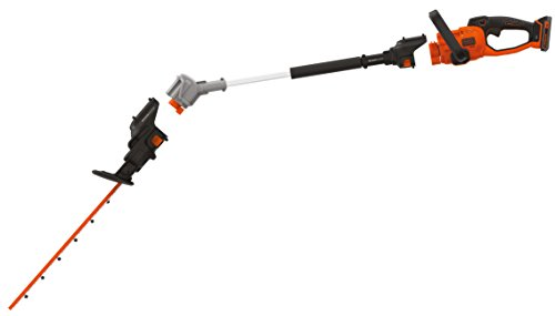 Black & Decker SeasonMaster 4-in-1 Akku-Heckenscheren / Kettensägen Kombi-Set (18V, bestehend aus Heckenschere, Kettensägenaufsatz und Verlängerungsstab, inkl. 2.0 Ah Akku und Ladegerät)