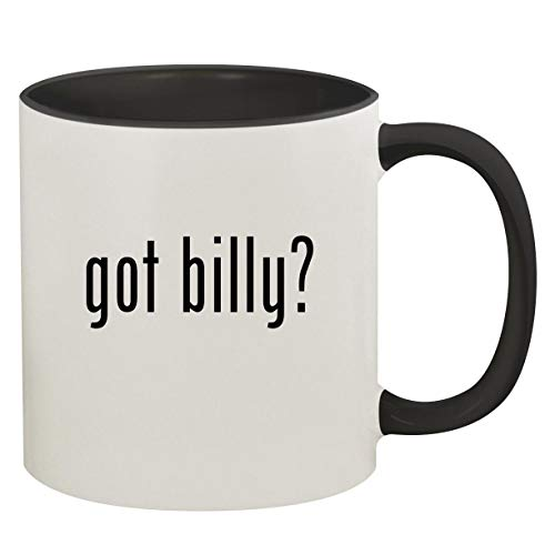 got billy? - 11oz Ceramic Colored Inside & Handle Coffee Mug, Black