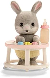 Calico Critters - Baby Carry Case - Gray Rabbit in the Walker