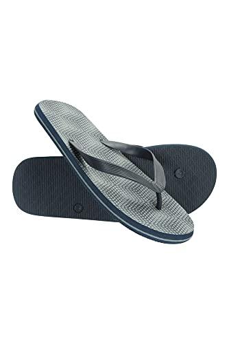 Mountain Warehouse Beach Walk Mens Flip Flops - Classic Design Footwear, Lightweight Sandals, Cosy Outsole, Slipon Summer Shoes -for Travelling, Walking, Beach, Poolside Dark Grey 10 UK