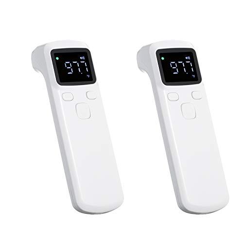2PCS berührungsloser berührungsloser IR-Infrarotsensor Stirn Körpertemperatur Werkzeugmessung LCD-Digitalanzeige Austauschbare Batterien für Kleinkinder