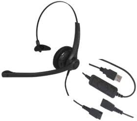 discount Smith Corona VoiceLync Monaural USB popular Headset with GNN outlet sale Compatible QD, Detachable Bottom USB Cord sale