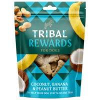 Tribal Galletas de Coco, Banana y Mantequilla de Cacahuate para Perros 125g (parck 2 Paquetes 250 gr Total)