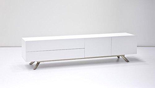 123wohndesign TV-lowboard, TV-Board, TV-Tisch, Lowboard bona matt weiß