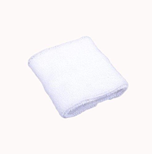 Dosige Sport Schweißband Handgelenk Handtuch Armschienen Tennis Badminton Gym Armband Wrist Wraps für Männer Frauen Damen Mädchen Weiß