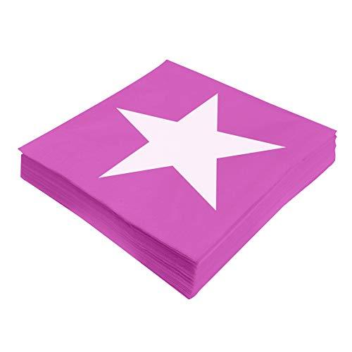 Preis am Stiel Servietten ''Star'' - Pink | Tissueservietten | Küchenzubehör