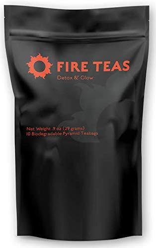 FIRE TEAS - DETOX & GLOW Ayurvedic Cleansing Tea - Organic Turmeric,...