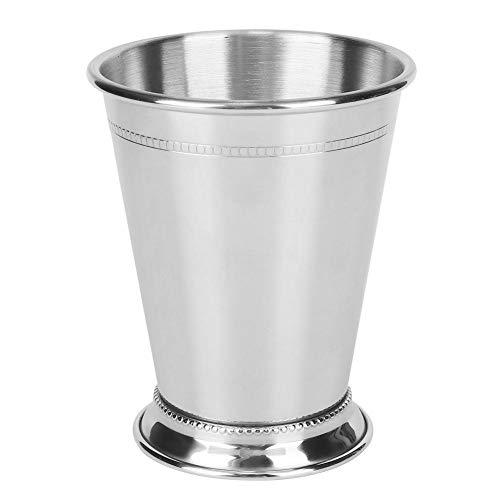 Edelstahl silbrig Mint Julep Cup, Cocktail Mug Mixgetränke Glas Bar Party Bier gehämmert Kupfer Moskau Mule Cup