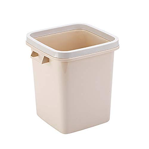 POUYTT Trash Can, Household Trash Can Dormitory Kitchen Living Room Bedroom Bathroom Simple Uncovered Garbage Bin With Pressure Ring,Size -29x25x25cm (Color : C)