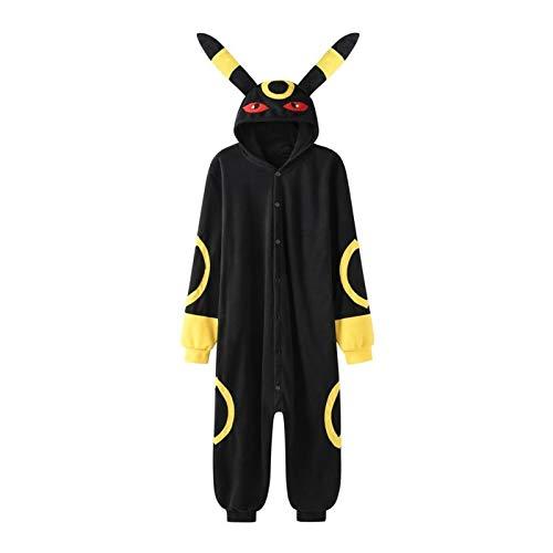 7MR Pijama Adulto Unisex Pijmas de Dibujos Animados Adulto Abrigo de Mujer Taller de Invierno nia Linda Servicio de casa Amigos Pijamas (Color : Yellow Umbreon, Size : Large)