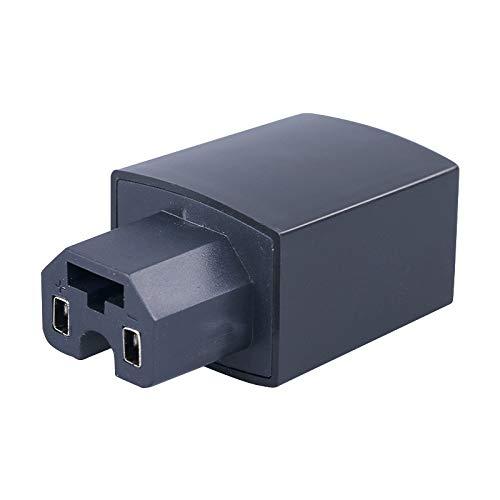 Almacenamiento de motos Adaptador eléctrico de la motocicleta 36-80V 2A puerto USB del doble del teléfono móvil-cargador, conveniente for una variedad de dispositivos electrónicos (Negro)