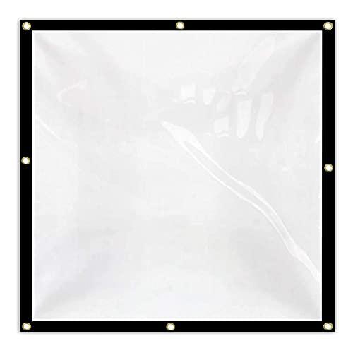 DPLLM Lona de Invernadero, PE Resistente a la Intemperie Lona Impermeable de poliéster Multiusos para Uso en Exteriores (Color : Transparente, Size : 4x4m)