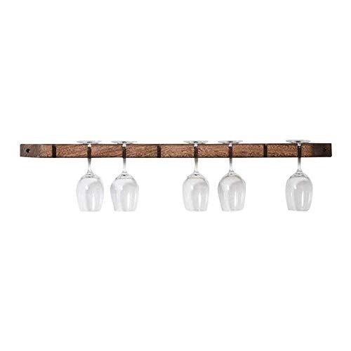 Wandmontage-Weinkühlschrank/Wandmontage-Weinregal/moderner Hausbar-Holzweinkelch aus massivem Holz, B 90 cm