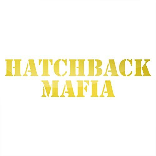 RDW Metallic Hatchback Mafia Sticker Die Cut JDM ef eg ek - Gold