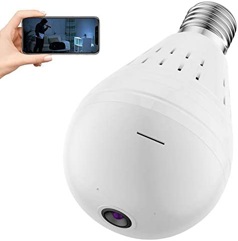 Light Bulb Camera Dome Surveillance Camera 1080P 2 4GHz WiFi 360 Degree Wireless Security IP product image