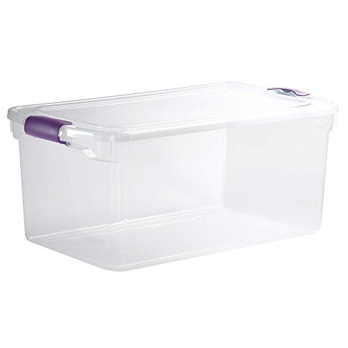 HOMZ 3441GRPRCL.06 Storage Tote, Polypropylene, Clear, 64 qt.