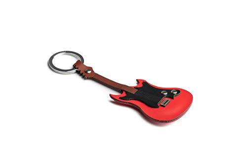 Dallaiti Design - Llavero de Guitarra eléctrica de Piel pigmentada e Hilo...