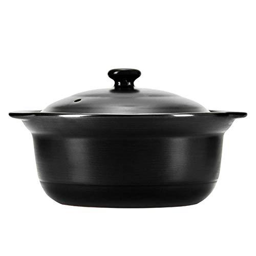 CeráMica Hot Pot Cazuela Olla De Sopa Anti-Scald Y Resistente Al Calor, DiseñO Especial.-2.9L