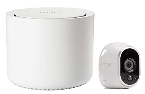 Arlo HD Überwachungskamera & Alarmanlage, 1er Set, Smart Home, kabellos, Innen/Außen, Nachtsicht, WLAN, wetterfest, Bewegungsmelder, (VMS3130) - Weiß
