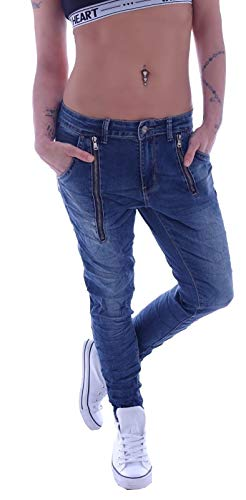 H 44 Jeans Capri Jeans Hüftjeans Pantalons Mozzaar beige O taille 34 36 38 40 42