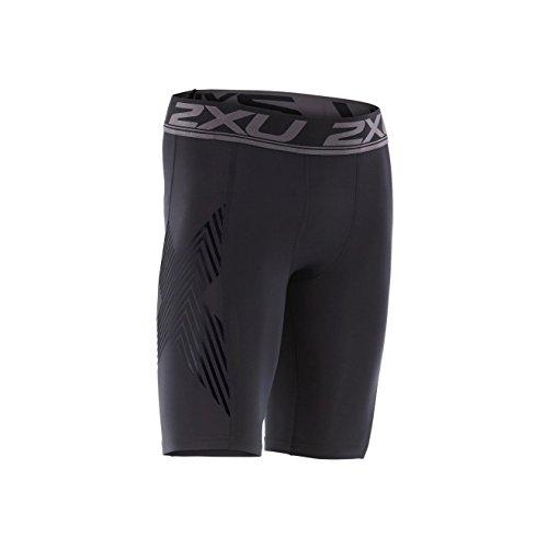 Accelerate 2 x U Short de compression pour homme Black/Nero 2017 Pantalon de course, schwarz/arrow gestreift nero, xl