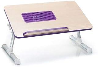 طاولة لاب توب قابلة للطى مزودة بمروحة تبريد - بنفسجى