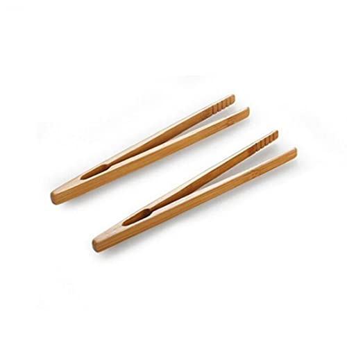 Froiny 2pcs Bambú Pinzas De Madera Cocina
