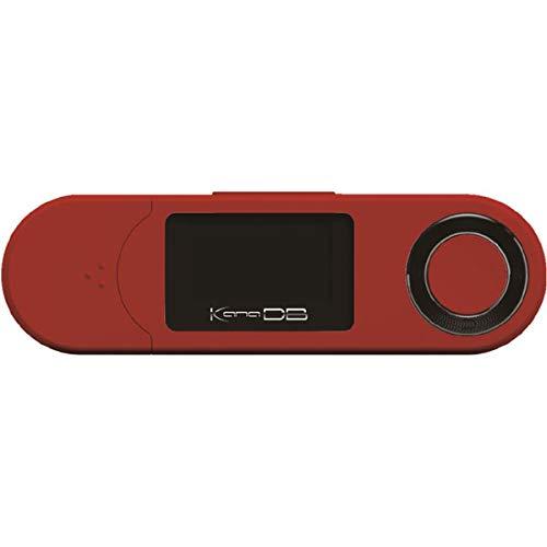 GREEN HOUSE(グリーンハウス) デジタルオーディオプレーヤー レッド GH-KANADBS8-RD [8GB /専用イヤホン(32Ω 3mW 約110cm)、取扱説明書、保証書]