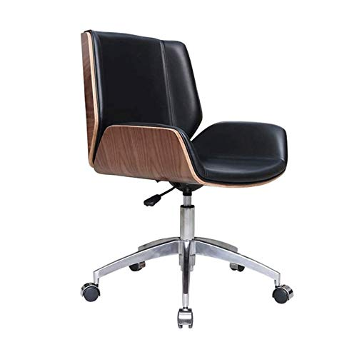Simple Modern Office Chair,Chair Drafting Stool with Wheels Adjustable Leather Ergonomic Office Chair Back Support Comfy Chair Desk Chairs (Color : B)