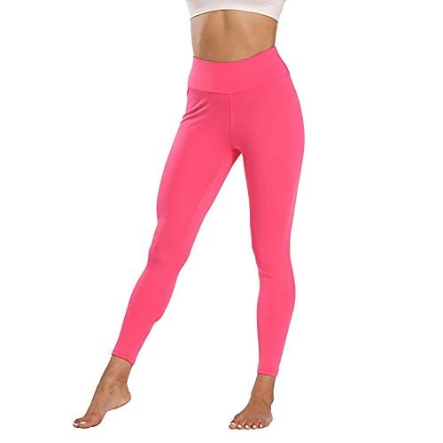 QTJY Pantalones de Yoga de Cintura Alta para Mujer, Pantalones elásticos de Secado rápido, Leggings para Exteriores, Pantalones para Correr, Pantalones de chándal DL
