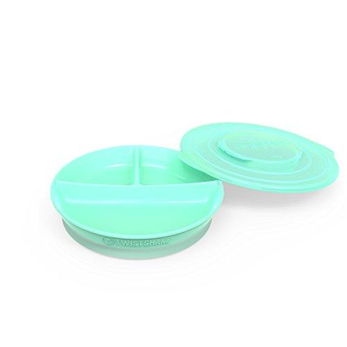 Twistshake Teller, mit Unterteilung, Pastellgrün, ab 6 Monaten