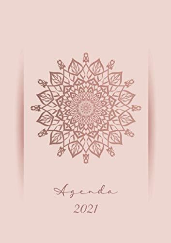 Agenda 2021 : Mandala rosa: Agenda settimanale 2021 | Namaste Terapia artistica | Piccolo formato A5 | Da notare tutti gli appuntamenti da gennaio a dicembre 2021 | 124 pagine | Italiana