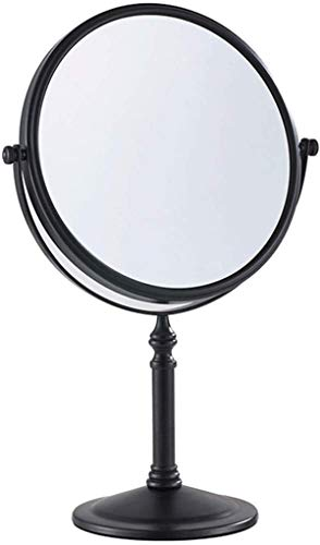 Gecious Standing Makeup Mirror 8 Inches Dual-Sided 1X/10X Magnifying Tabletop Vanity Mirror- Matte Black,Oil Rubbed Bronze Bronze 304 Stainless Steel, Countertop 14-inch Height Black Without Light